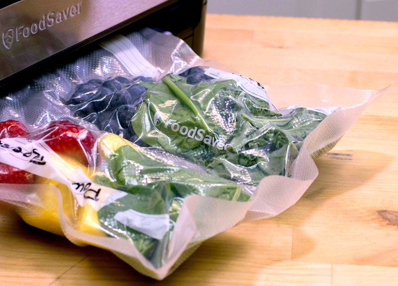 Saving Fruit And Veggies Inside A Vacuum Food Sealer