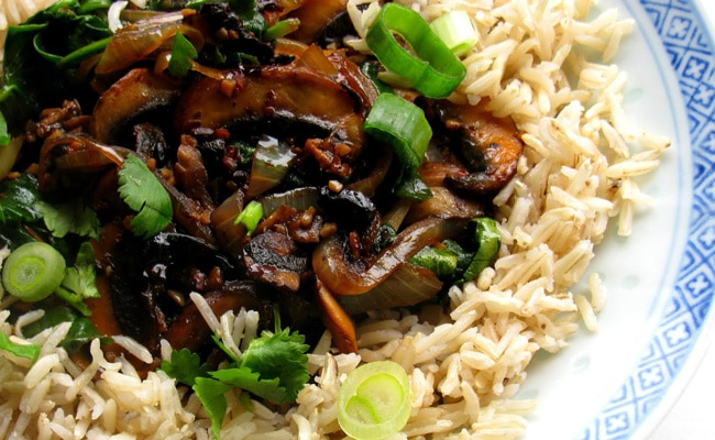 Brown Rice With Spinach